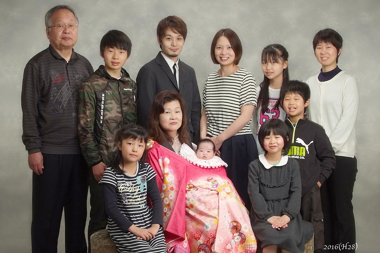 大阪 記念撮影 家族写真
